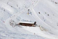Café aux montagnes - le mauvais Gastein de station de sports d'hiver Image libre de droits
