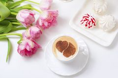 Café avec amour Image stock