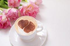 Café avec amour Photo libre de droits