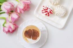 Café avec amour Photos libres de droits
