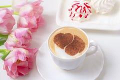 Café avec amour Photo stock