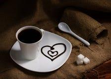 Café avec amour Photographie stock libre de droits