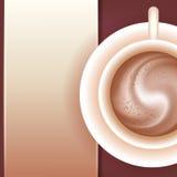 Café avec de la crème. Image stock
