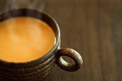 Café avec de la crème Photographie stock libre de droits