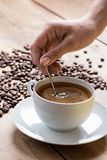 Café avec de la mousse photographie stock libre de droits
