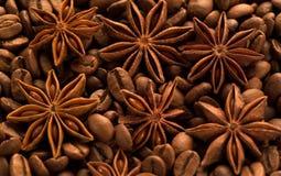 Café avec des étoiles d'anis Photo stock