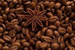 Café avec des étoiles d'anis Photographie stock