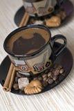 Café avec des biscuits Photographie stock libre de droits