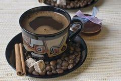 Café avec des biscuits Images libres de droits