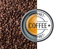 Café avec des haricots illustration libre de droits