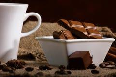 Café avec du chocolat Image stock