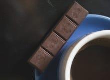 Café avec du chocolat Photographie stock