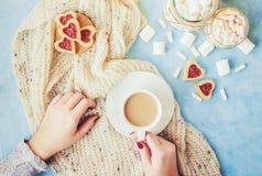 Café avec du lait Photo stock