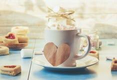 Café avec du lait Image stock