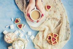 Café avec du lait Images libres de droits