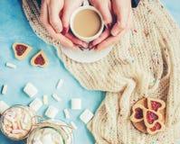 Café avec du lait Photos libres de droits