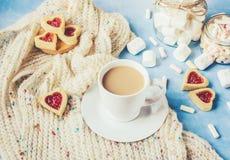 Café avec du lait Photographie stock