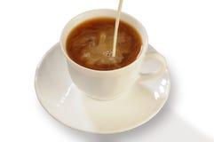 Café avec du lait Photos stock