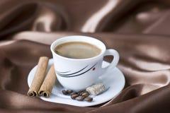 Café avec du sucre brun Photos stock