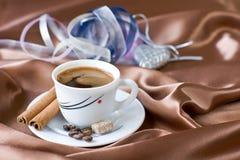 Café avec du sucre brun Images libres de droits