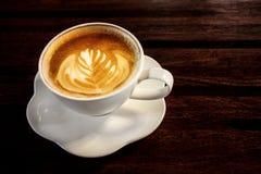 Café avec l'art de latte images libres de droits