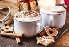 Café avec la crème fouettée Images libres de droits