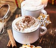 Café avec la crème fouettée Photos libres de droits