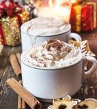 Café avec la crème fouettée Photographie stock