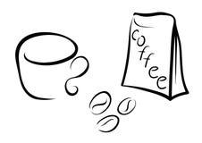 Café avec la cuvette Photo stock