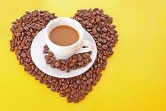 Café avec la graine de café Photos libres de droits