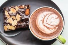 Café avec la tasse Photographie stock