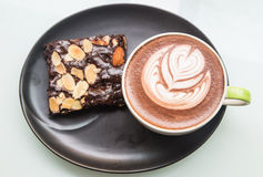 Café avec la tasse Photos libres de droits
