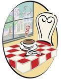 Café avec une vue Illustration de Vecteur