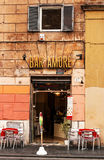 30 04 2016 - Café/barra en Roma Imagen de archivo libre de regalías