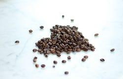 Café Bean Heart Imagens de Stock Royalty Free