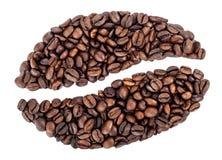 Café Bean Shape Imágenes de archivo libres de regalías