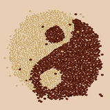 Café Bean Yin-Yang Photographie stock
