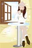 Café bebendo Imagens de Stock