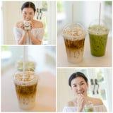 Café bebendo fotografia de stock royalty free