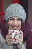 Café bebendo da mulher Imagens de Stock Royalty Free