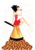 Café bebendo da mulher ilustração royalty free