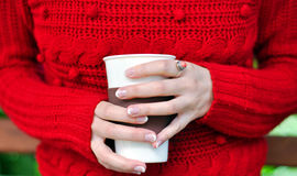 Café bebendo fora Fotos de Stock Royalty Free
