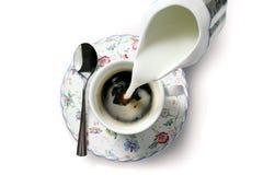 Café blanc Images libres de droits