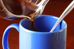 Café bonjour. Débuts photo stock