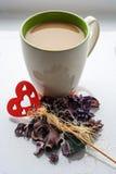 Café branco Fotografia de Stock