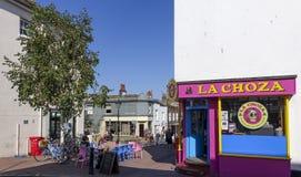 Café BRITÂNICO do verão de Brighton East Sussex Fotografia de Stock