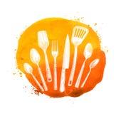 Café, calibre de conception de logo de vecteur de restaurant Menu ou cuisson, icône de cuisine Photo libre de droits