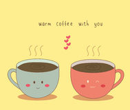 Café caliente con usted Imagen de archivo libre de regalías