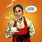 Café caliente de Barista Fotografía de archivo