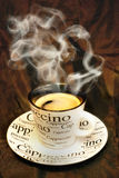 Café caliente del cappuccino fotografía de archivo libre de regalías